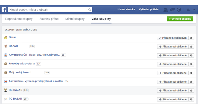 Vyhledávání FaceBook skupin