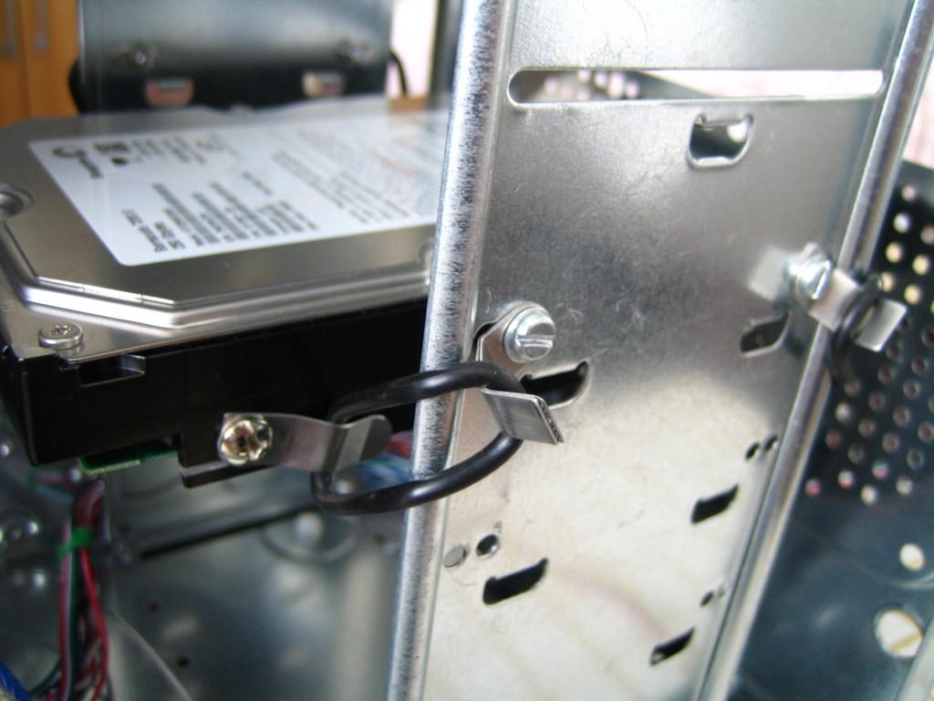Celek uchycení HDD vodní chlazení