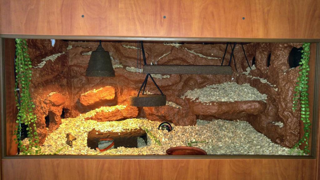 Terárium užovka červená - lamino terárium